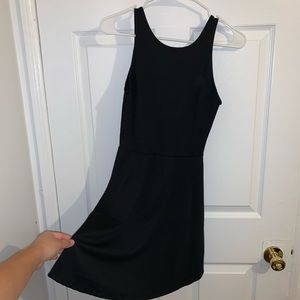 Black semi formal skater dress